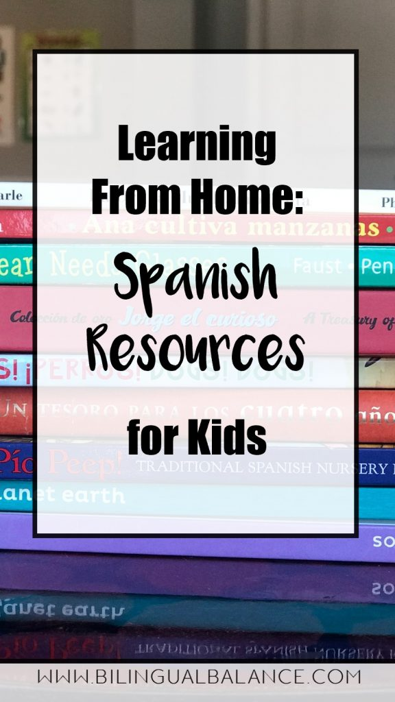 Top choices for kids learning Spanish at home: online books, websites, games, apps, music, and more!  Free K-2 choice boards.