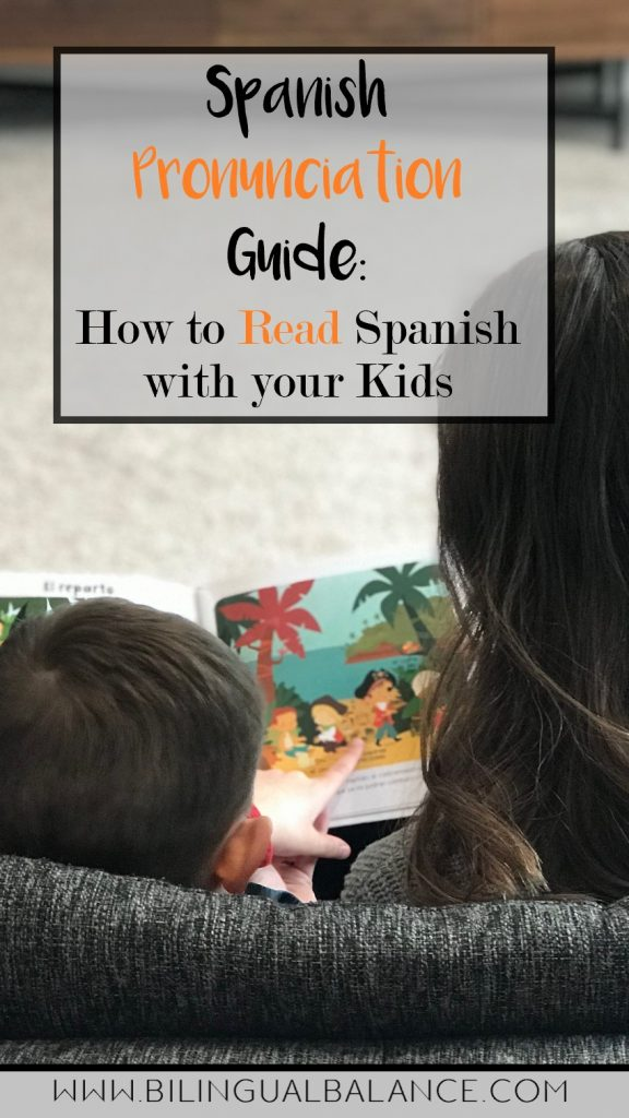 An important Spanish pronunciation guide:  How to read Spanish with your kids.  Free printable handout.