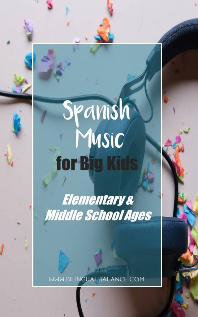 Wonderful Spanish music that older kids – elementary school to middle school ages - will love.