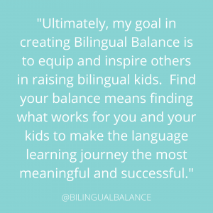 Creating a family language plan: Find your balance.