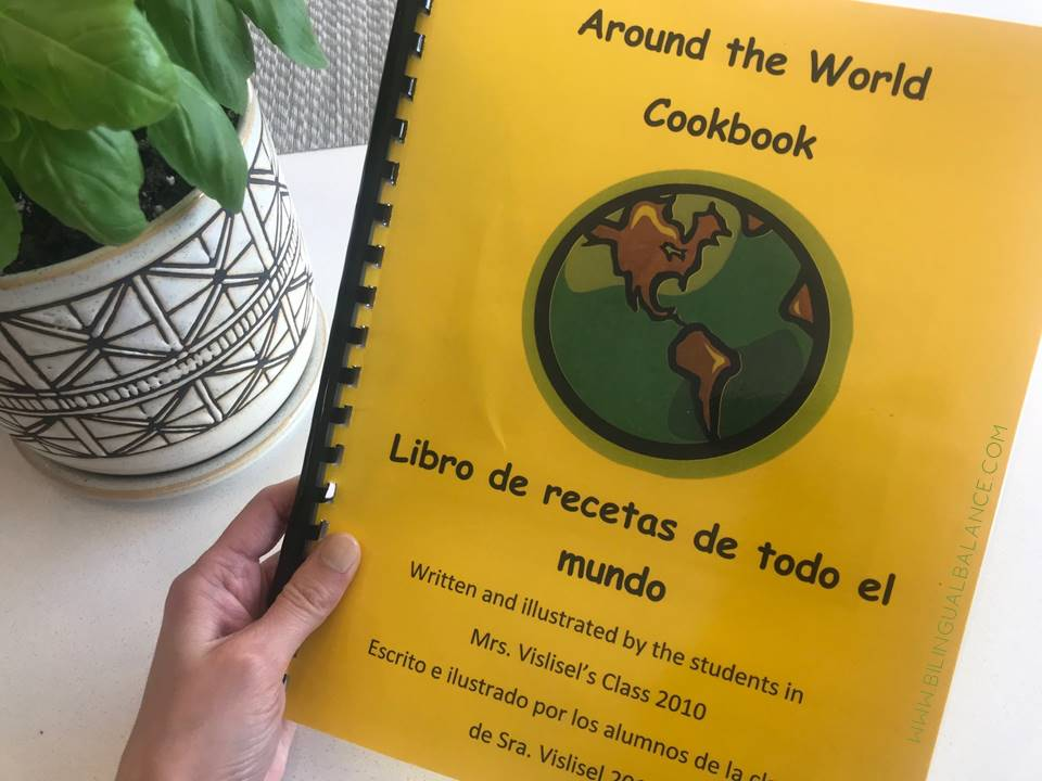Around the World Cookbook for Elementary Classes - free printable from Bilingual Balance
