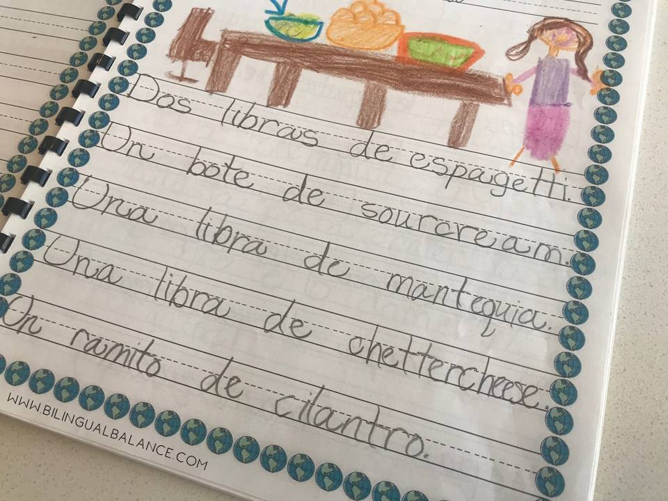 Around the World Class Cookbook - ideas and free printable from Bilingual Balance.