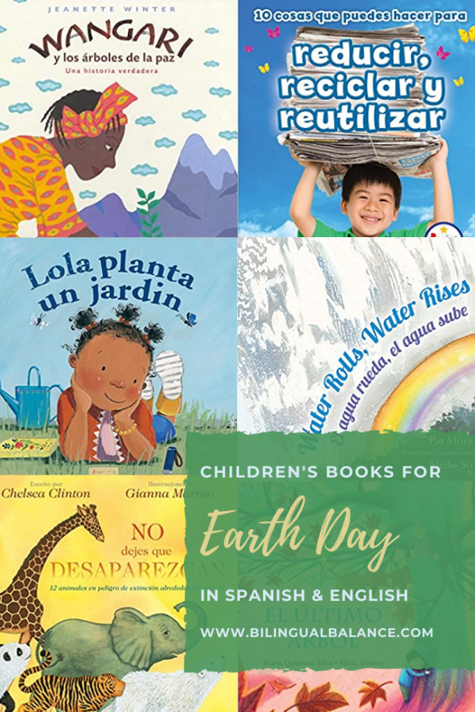 Earth Day Books for Kids in Spanish & English from Bilingual Balance.