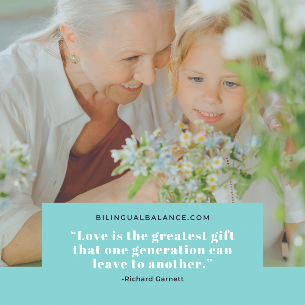 """""""Love is the greatest gift that one generation can leave to another."""" Quote by Richard Garnett."""