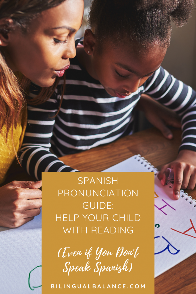 Spanish pronunciation guide: Help your child with reading (even if you don't speak Spanish!) from Bilingual Balance.